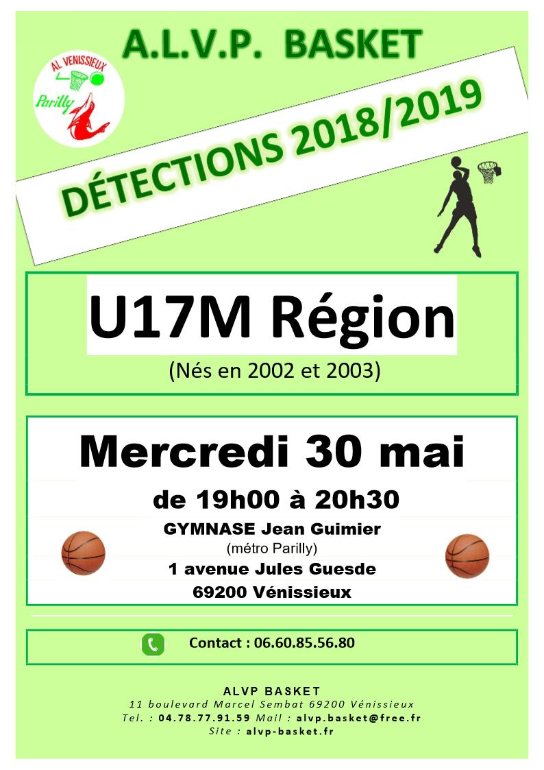 détections U17M mai 18