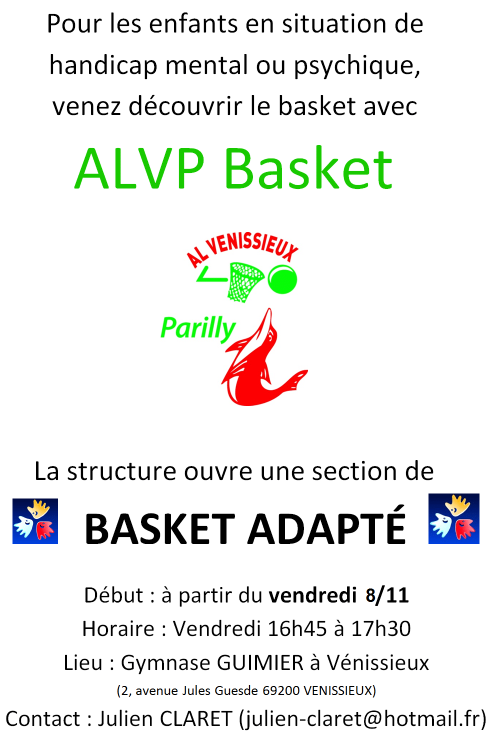 Basket adapté ALVP
